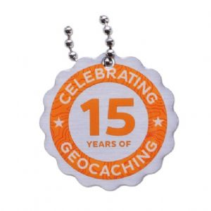 15 (Fifteen) Years of Geocaching – Official Travel Tag
